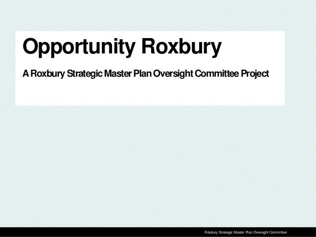 1Prepared for Roxbury Strategic Master Plan Oversight CommitteeRoxbury Strategic Master Plan Oversight Committee Opportuni...