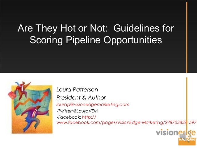 Are They Hot or Not: Guidelines for Scoring Pipeline Opportunities Laura Patterson President & Author laurap@visionedgemar...