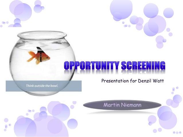 Presentation for Denzil Watt
