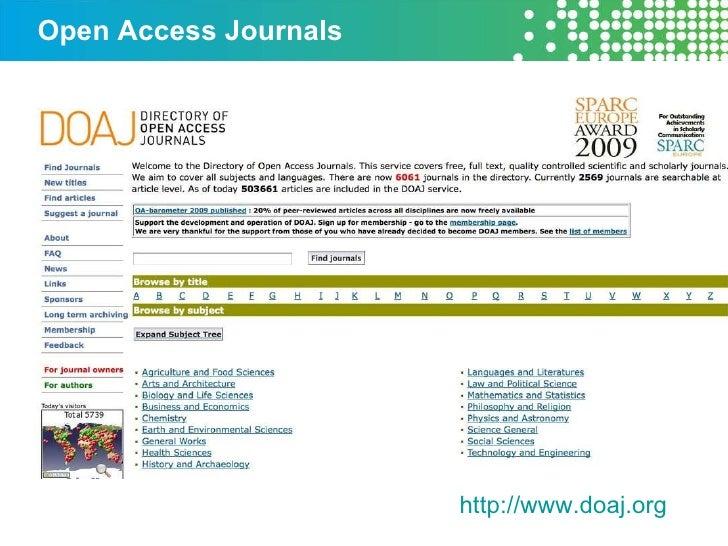 Open Access Journals http://www.doaj.org