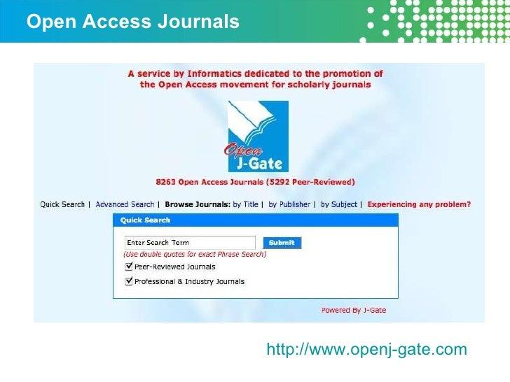 Open Access Journals http://www.openj-gate.com