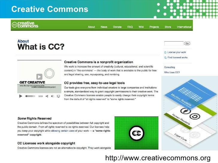 Creative Commons http://www.creativecommons.org