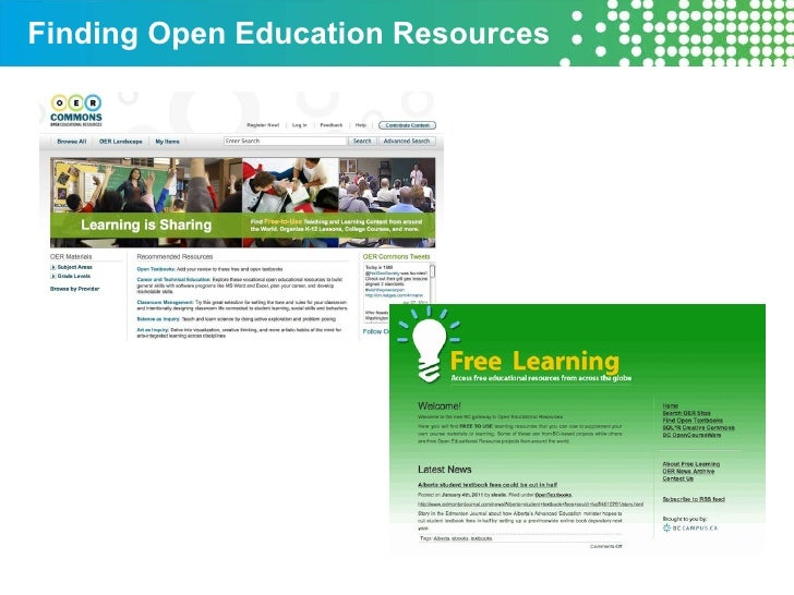 Finding Open Education Resources
