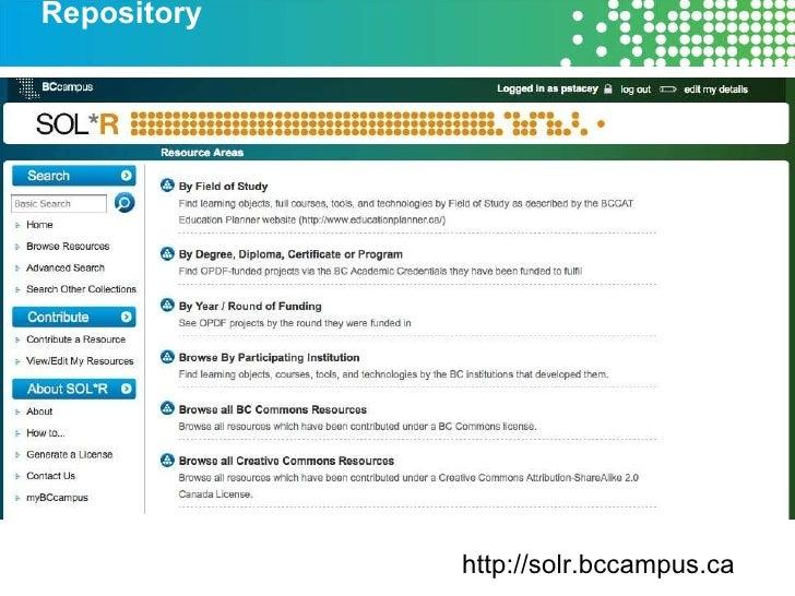 Repository http://solr.bccampus.ca