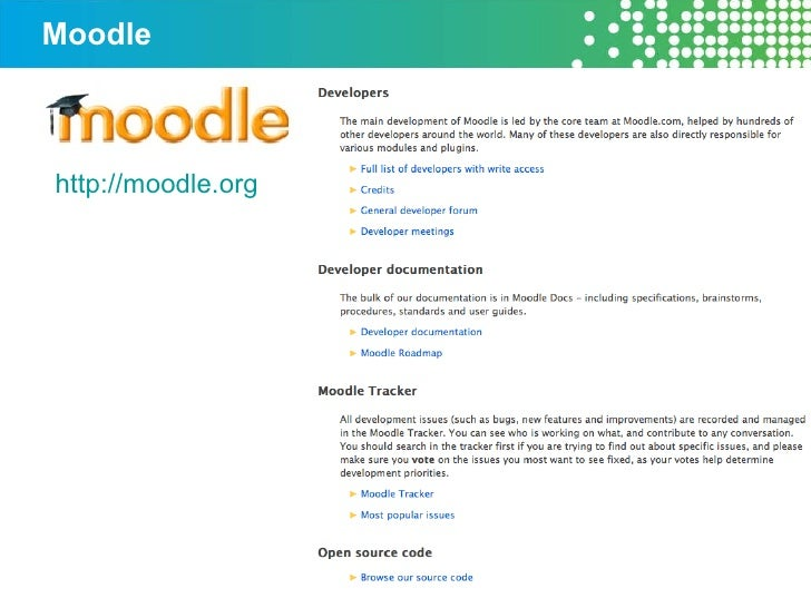 Moodle http://moodle.org