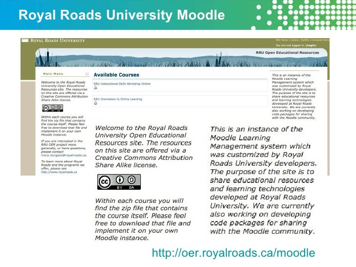 Royal Roads University Moodle  http://oer.royalroads.ca/moodle