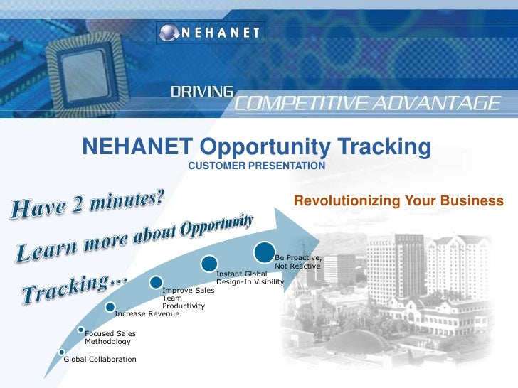 Global Collaboration<br />NEHANET Opportunity Tracking<br />CUSTOMER PRESENTATION<br />Revolutionizing Your Business<br />...