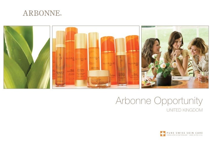 Arbonne Opportunity            United KingdOm               pure swiss skin care            formulated in switzerland   | ...