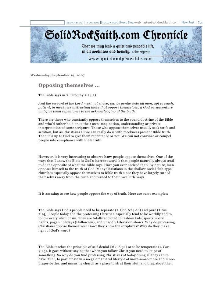 SEARCH BLOG   FLAG BLOG   FOLLOW BLOG   Next Blog»webmaster@solidrockfaith.com | New Post | Customize     Wednesday, Septe...