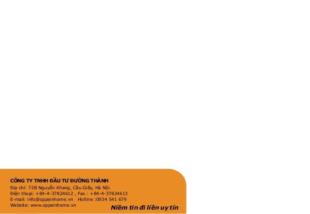 CÔNG TY TNHH ĐẦU TƯ ĐƯỜNG THÀNH Địa chỉ: 72B Nguyễn Khang, Cầu Giấy, Hà Nội. Điện thoại: +84-4-37824612 , Fax : +84-4-3782...