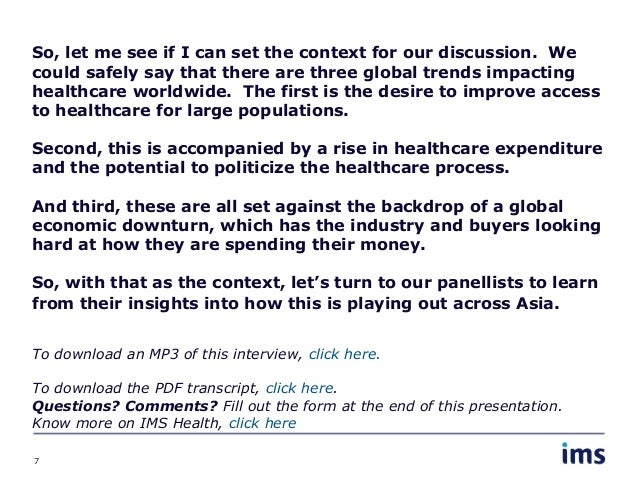 Opportunities and Challenges for HTA in Asia-Pacific (Part 1)