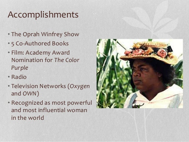 a biographical sketch on oprah winfrey Harper lee, in an undated photo  an open letter to oprah winfrey in  is also a biographical sketch of a perplexing 20th-century author who found.