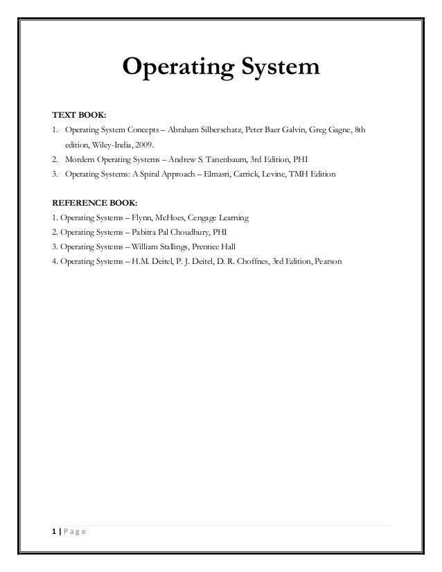 Operating Systems - A Spiral Approach pdf