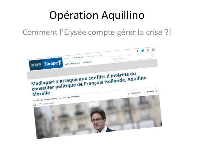 Opération Aquillino Comment l'Elysée compte gérer la crise ?!
