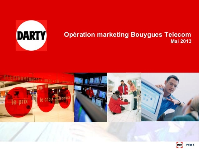 Page 1 Opération marketing Bouygues Telecom Mai 2013