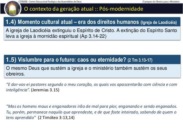 CETADEB - Lição 1 - O preparo do obreiro para o ministério