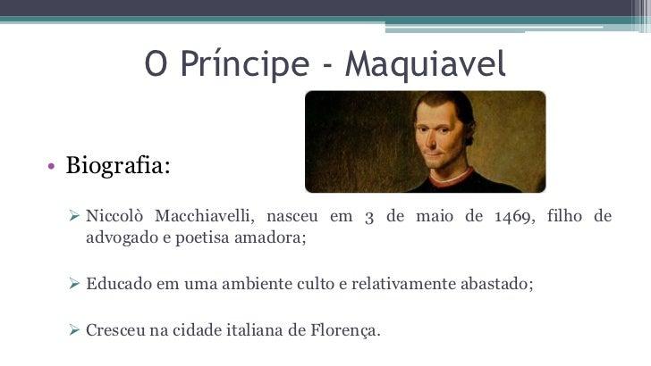 O príncipe – Maquiavel (1513) Slide 2