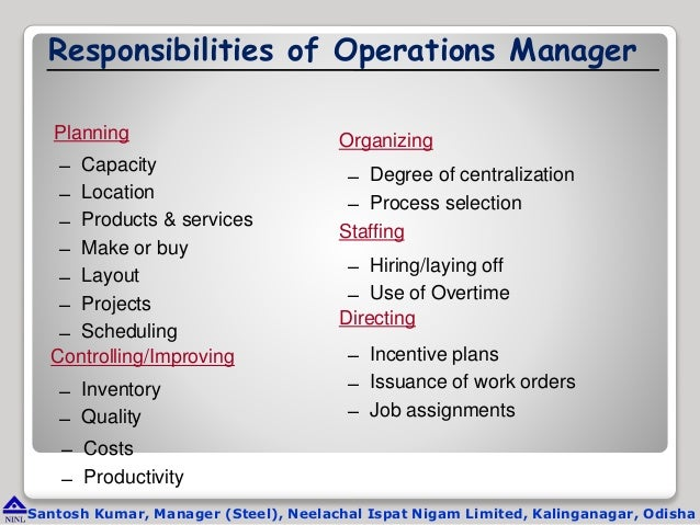 Operations Manager Job Description - Role, Duties ...