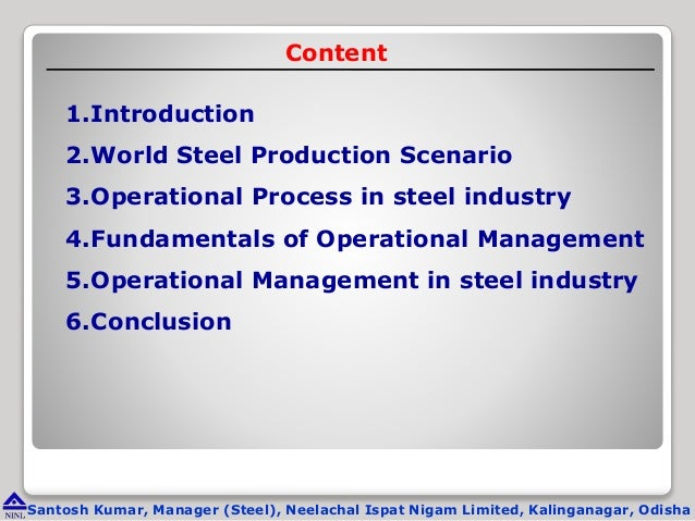 management and steel industry essay