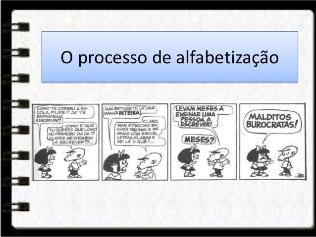 O processo de alfabetização