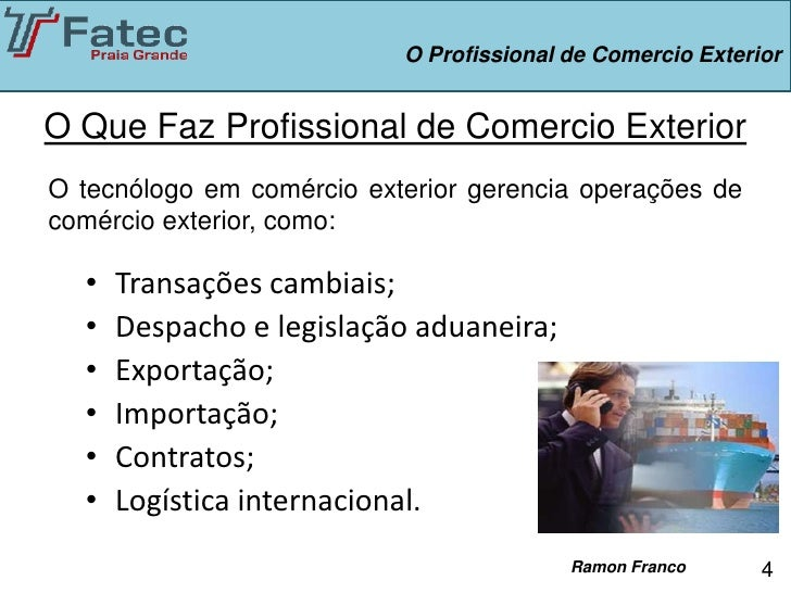 O profissional de comercio exterior for Comercio exterior que es