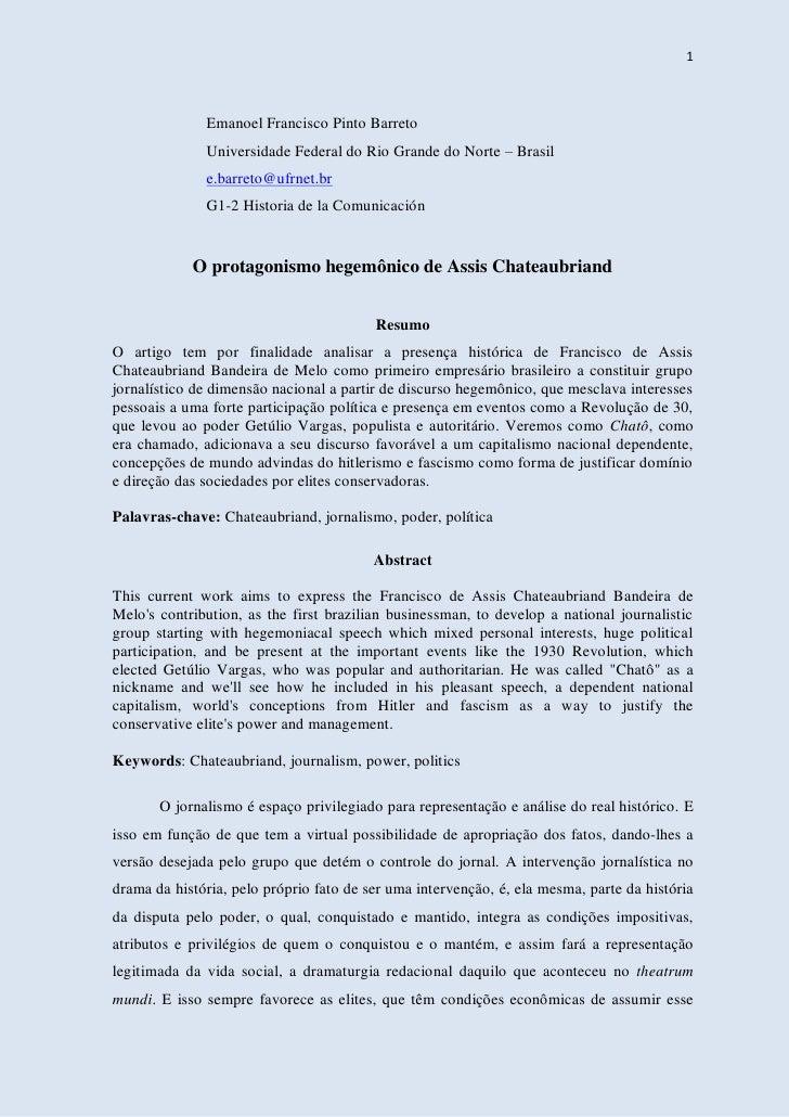 1              Emanoel Francisco Pinto Barreto              Universidade Federal do Rio Grande do Norte – Brasil          ...