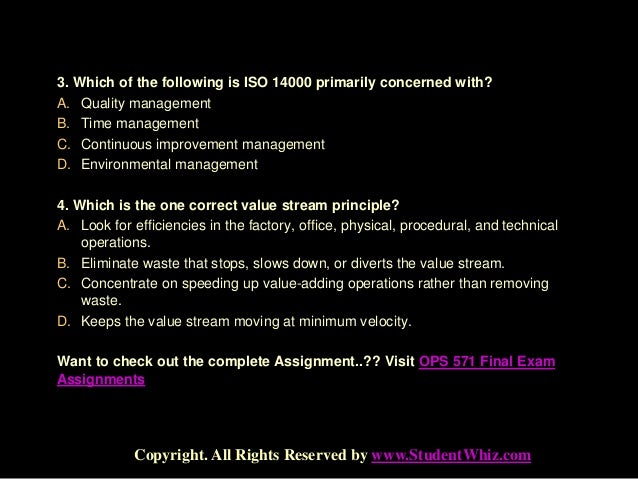ops 571 operations management final exam Cisco netacad final exam answers 2018 california ops 571 final exam answers free operations management chapter 2 the chemistry of life vocabulary review crossword.