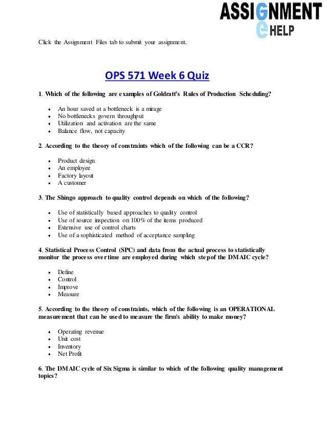 Project Management and Statistical Process Control Homework Assignment