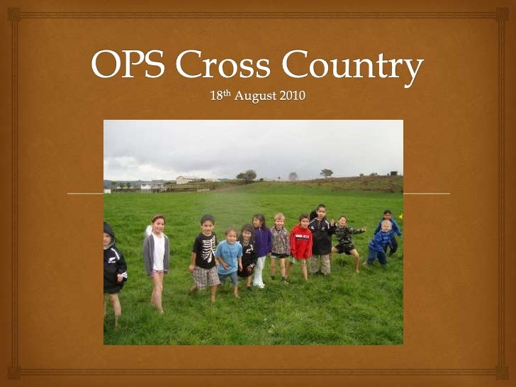 OPS Cross Country18th August 2010<br />