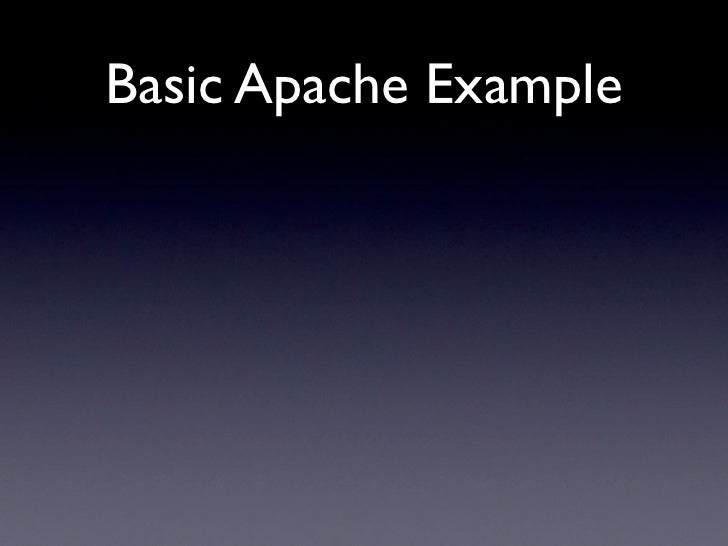 Basic Apache Example