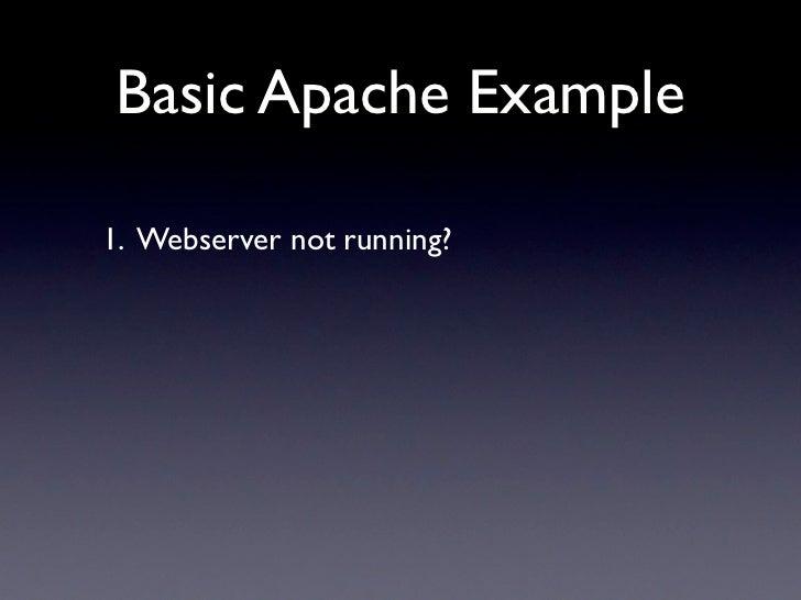 Basic Apache Example  1. Webserver not running?