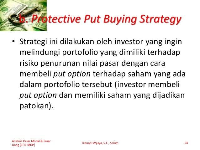bagaimana melindungi saham dengan opsi put