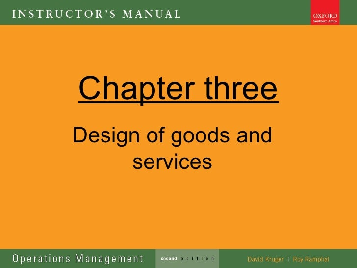 Chapter threeDesign of goods and     services