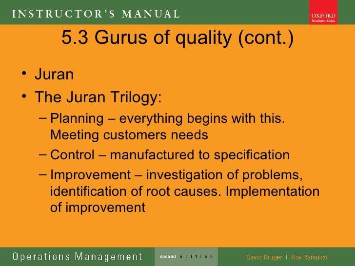 Juran Trilogy Essay Sample