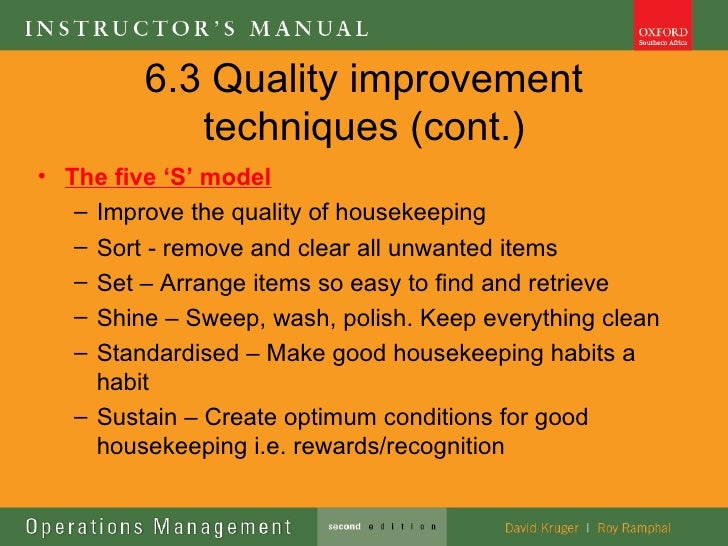 Ops Management Lecture 6 Quality Tools Techniques