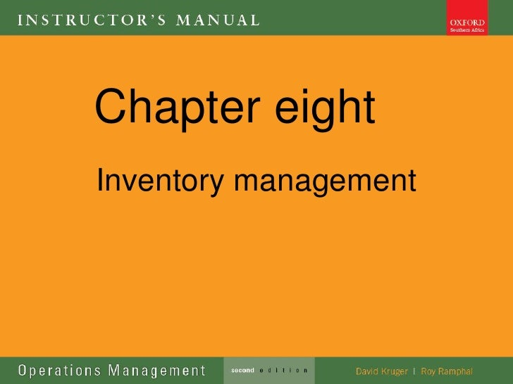Chapter eightInventory management