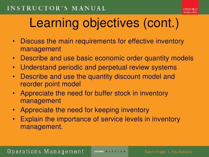 Ops management lecture 8 inventory management Slide 3