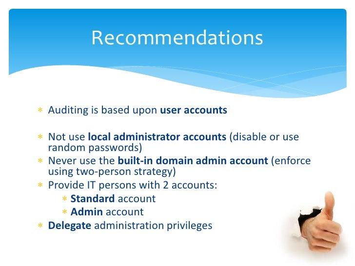 personal strategic audit