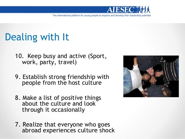 Recovery  Exploration and need of more information about the culture  New optimistic attitude  Beginning process of con...