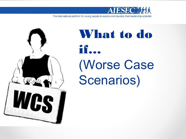 Key points  Don't Panic or get disappointed  Speak with the responsible AIESEC member, explain the situation and try to ...