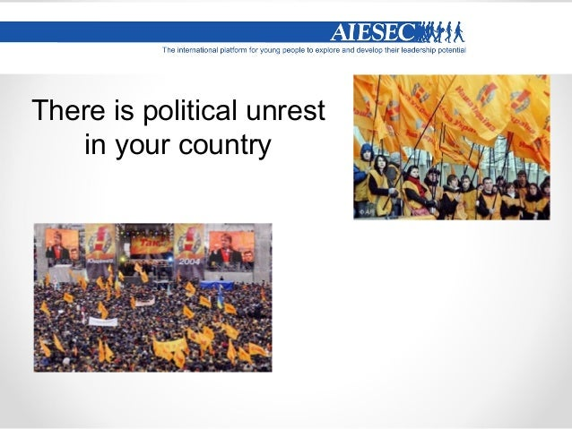 You are unhappy with the accommodation arrangements that AIESEC has provided in your host country