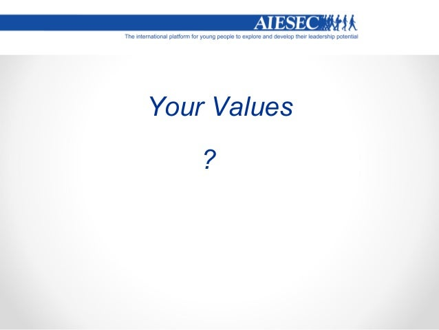Your Values ?