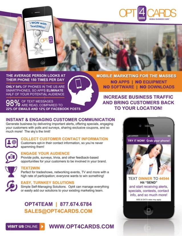 Opt4 Mobile Flyer