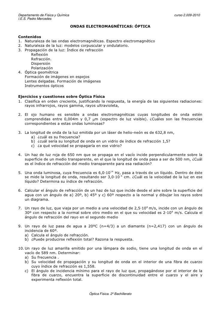 Departamento de Física y Química                                                     curso 2.009-2010 I.E.S. Pedro Mercede...