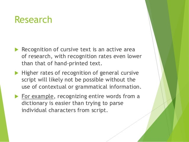 optical character recognition research papers International journal of scientific & engineering research optical character recognition for running c code in the following paper, using the concept of.