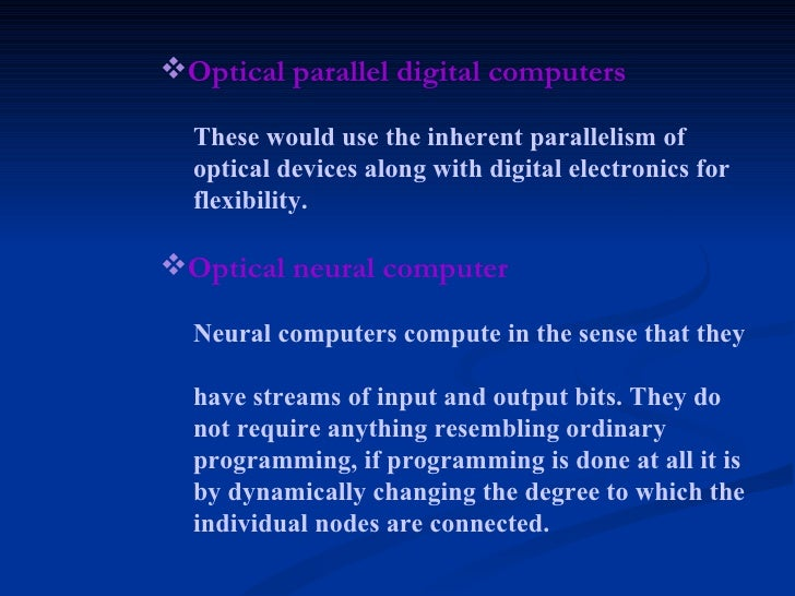 optical computing Superposition in optical computing b keith jenkins signal and image processing institute mc -0272 university of southern california, los angeles, california 90089 -0272.