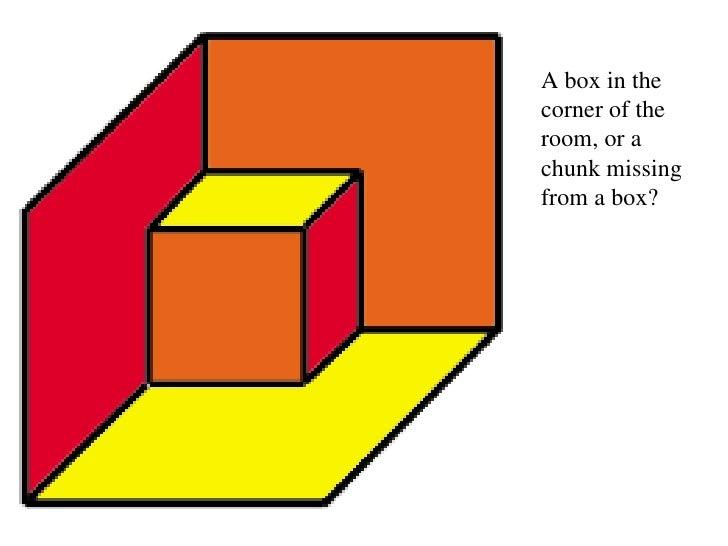 optical illusions box room corner