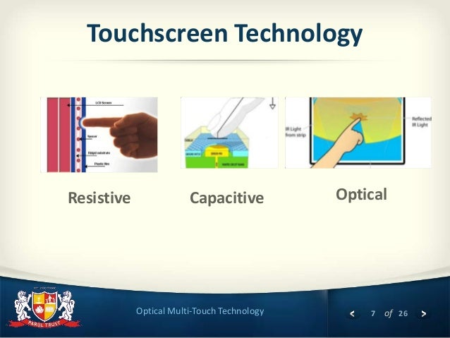 Optical Multi Touch Technology