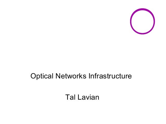 Optical Networks Infrastructure  Tal Lavian