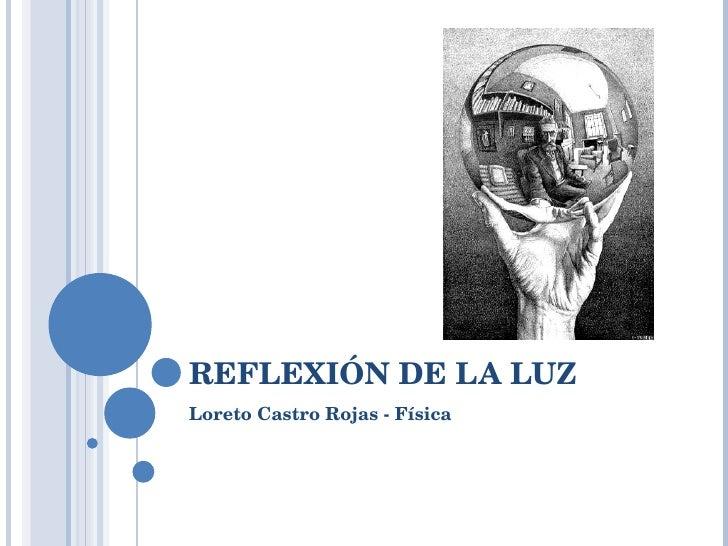 REFLEXIÓN DE LA LUZ Loreto Castro Rojas - Física